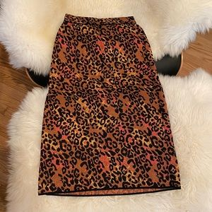 Worn Twice! M Missoni Leopard Knit Skirt
